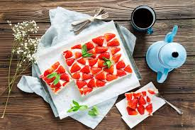 erdbeer schmand schnitten vom blech
