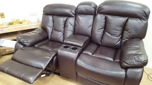 Darrin Leather Reclining Sofa With Console by Awesome Reclining Console Sofa Chairs Youtube
