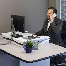 Ergotron Workfit D Sit Stand Desk by Ergotron 33 397 062 Workfit T Adjustable Height Standing Desk
