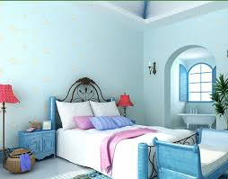 light blue wallpaper bedroom home design