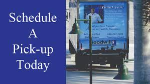 Schedule free pick up Goodwill