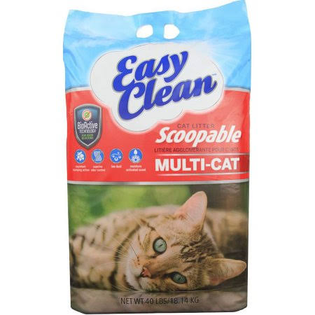 Pestell Easy Clean Multi Cat Scoopable Cat Litter