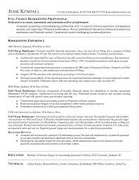 Bookkeeper Resume Objective The Best Sample