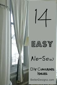 No Sew Curtains Ideas Easy How To Make No Sew Back Tab Curtain