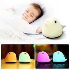 pat le usb aufladbare nette whale led nacht licht silikon schlafzimmer nacht le für kinder baby geschenk schlafzimmer licht