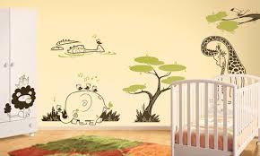 chambre enfant savane stickers savane enfant idées décoration intérieure