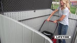 Suncast Horizontal Storage Shed Assembly by 60203 Horizontal Shed Gray Matters Youtube