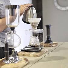 Pour Over Coffee Stand Hario V Cl On Redwood