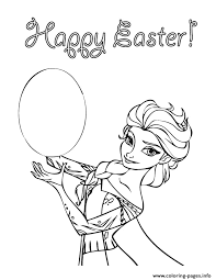 Disneys Frozen Happy Easter Coloring Pages