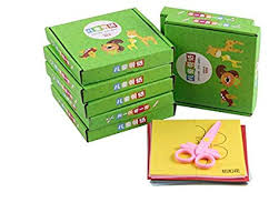 TENTOP DIY Kindergarten Kids Gift Cut Paper Handmade Book Toy 96 Pc Box