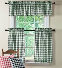 White Cotton Kitchen Curtains by 20 Best Gingham Kitchen Images On Pinterest Appliance Covers