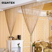 großhandel 2 9x2 9 mt moderne wohnzimmer vorhänge fadenvorhänge string vorhang tür perle gardinen für fenster schlafzimmer cortinas salon d19011506