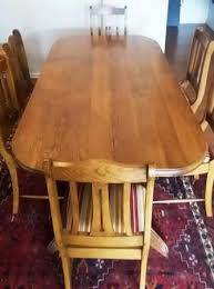REDUCED FOR QUICK SALE OLD OAK DININGROOM TABLE 8 CHAIRS AND SERVER SOLID Wood