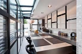 villa cuisine cuisine américaine contemporaine dans une villa à courbevoie