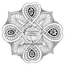 Colouring Sheet Zen Doodle Instant Download Pdf Abstract Art Zentangle Inspired Mandala Madrugada
