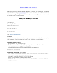 Daycare Resume Objective Examples Best Of Download Sample For Nanny Position