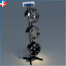 Metal Display Rack Stand For Tire Wheel Hub Exhibition Trade Show Racks