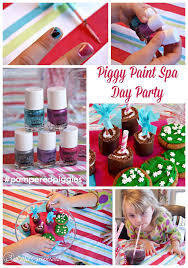 PamperedPiggies Have A Piggy Paint Spa Day Party With Your Favorite Little Girls Pamperedpiggies