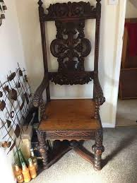 Antique Wooden Chair/high Back Throne Chair/decorative Piece | In  Southend-on-Sea, Essex | Gumtree