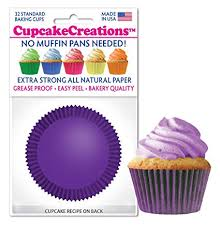Amazon Plum Purple Cupcake Baking Cup Liners 32 Count By