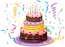 Birthday Cake with Confetti PNG Clipart Picture