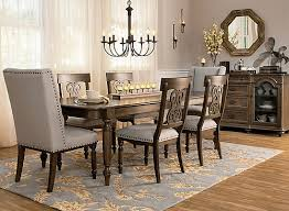 kasari 7 pc dining set oak gray raymour flanigan