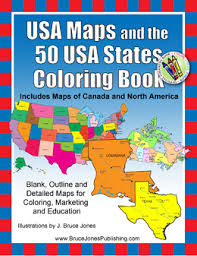 USA Maps And The 50 States Coloring Book