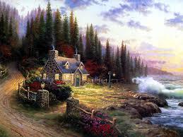 Thomas Kinkade Christmas Tree Cottage by 134 Best Thomas Kinkade Images On Pinterest Thomas Kinkade
