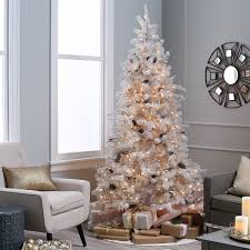7ft Pre Lit Christmas Trees by 7 Ft Sage Frosted Hard Needle Pre Lit Christmas Tree Hayneedle