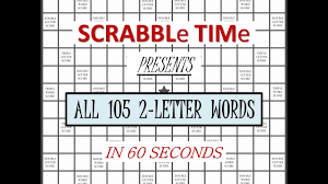ALL 2 LETTER SCRABBLE WORDS IN 60 SECONDS