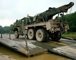 100 Army 5 Ton Truck A Ton Truck Is Driven Across A Ribbon Bridge Constructed By