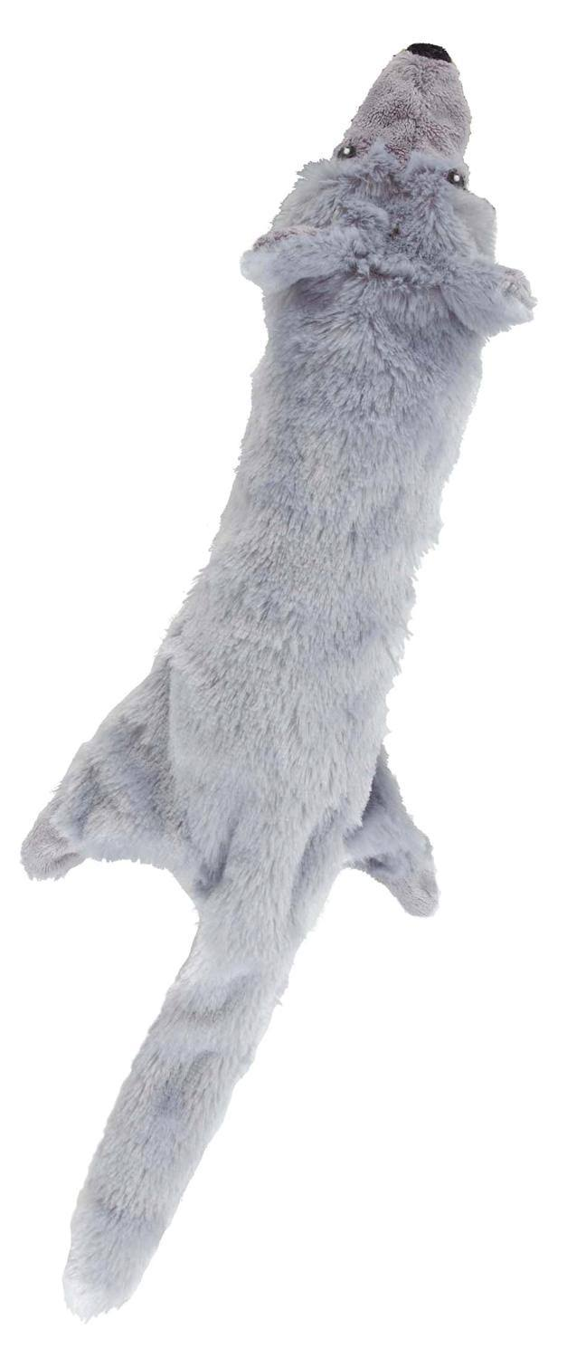 Ethical Skinneeez Big Bite Wolf Stuffingless Dog Toy