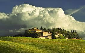 Storm On A Tuscan Villa Tuscany Region Italy