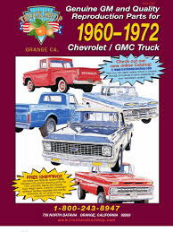 100 Chevy Truck Parts Catalog Free 6072 Invoice General Motors