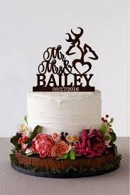 Deer Wedding Cake Topper Mr Mrs Wooden Last Name Rustic Fall Autumn