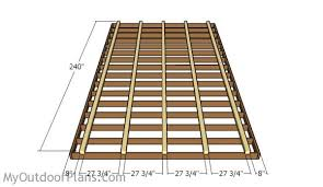 Floor Joist Spacing Shed by 12x20 Shed Plans Myoutdoorplans Free Woodworking Plans And
