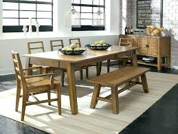 Dining Room Table Benches Attractive Sets With Bench Seating Round