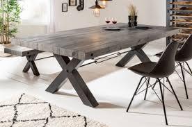 casa padrino industrial design esstisch grau schwarz 200 x 100 x h 76 cm massivholz küchentisch im industrie design esszimmer möbel