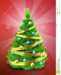 3d Neon Green Christmas Tree Over Red