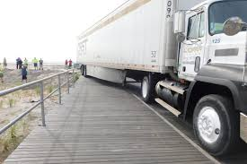 Wrong-way 18-wheel Rig Takes Trip Down Boardwalk
