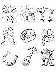 Click To See Printable Version Of New Years Eve Coloring Page