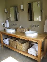 White Bathroom Wall Cabinet Without Mirror by Mirrors Without Frame Natural Wooden Vanity With Wicker Basket