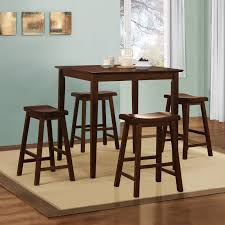 5 Piece Counter Height Dining Room Sets by Homelegance Saddle Back 5 Piece Counter Height Dining Table Set
