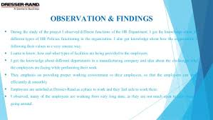 Dresser Rand Group Inc Ahmedabad by Study On Hr Practices