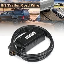 100 Sport Truck Rv Audew 7 Way 8ft Trailer Cord Wire Junction Box Camper RV Plug
