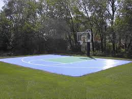 Backyard Design: Good Backyard Basketball Court Cost. | Carolbaldwin Home Basketball Court Design Outdoor Backyard Courts In Unique Gallery Sport Plans With House Design And Plans How To A Gym Columbus Ohio Backyards Trendy Photo On Awesome Romantic Housens Basement Garagen Sketball Court Pinteres Half With Custom Logo Built By Deshayes