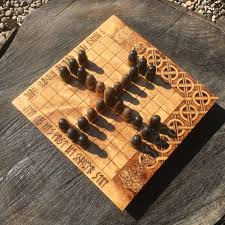 Tablut Hnefatafl Portable Folding Game Traditional Wooden Board W Novel Design Handcrafted Customizable