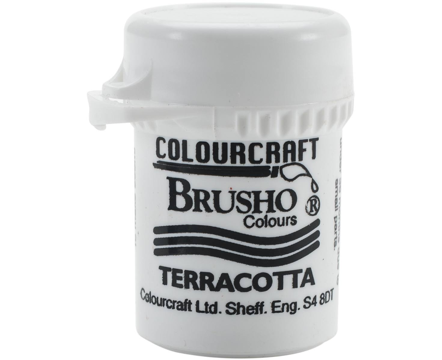 Colourcraft Brusho Crystal Colour - Terracotta, 15g