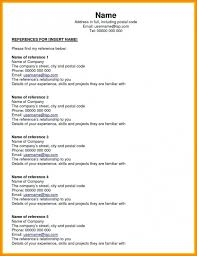Simple Resume Template Reference Page For