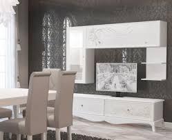 klassische wohnwand gaby in weiß italien barock